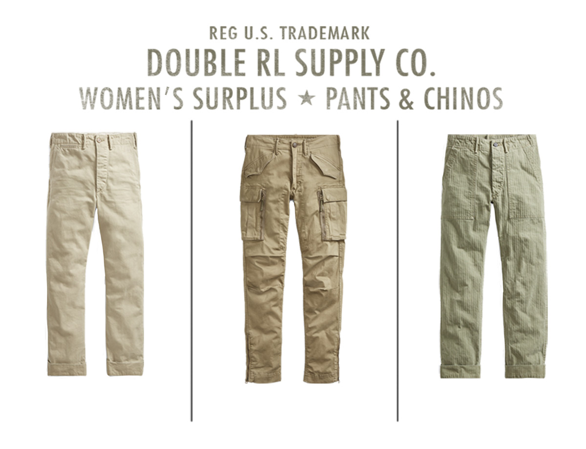 Chinos & utility pants in different shades & styles