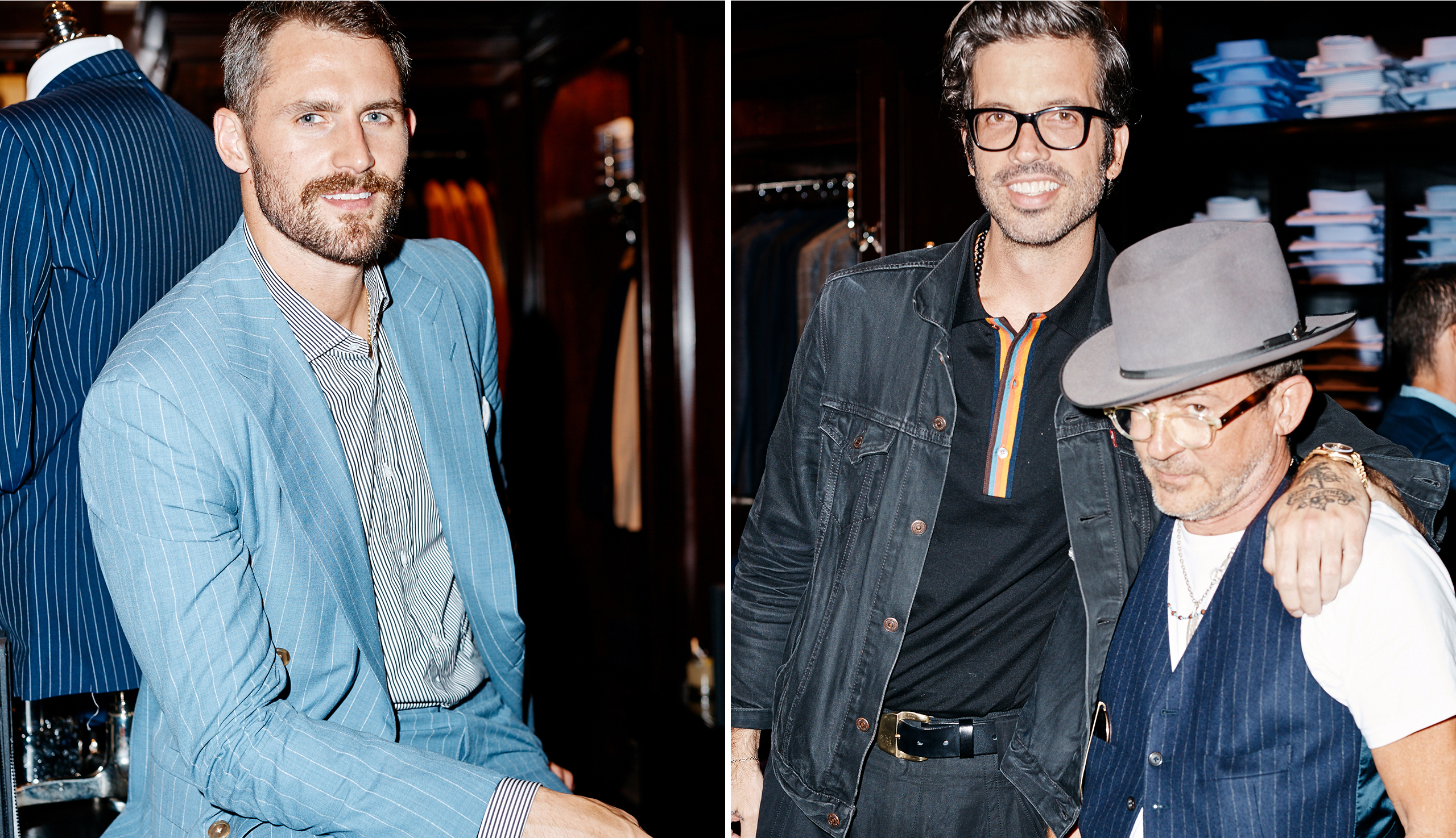 Cavaliers forward Kevin Love; <em>GQ</em> editor Will Welch and designer Mark McNairy