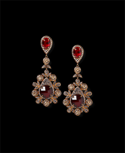 Large Drop Chandelier Earrings