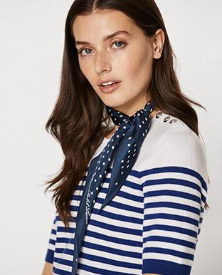 Button-Shoulder Cotton Top
