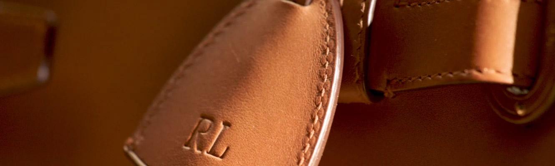 video of details of tan leather RL50 Handbag