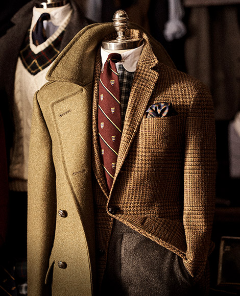 Houndstooth & wool blazers with wooden buttons