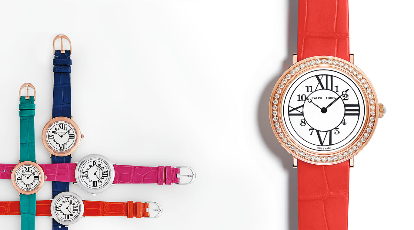 Brightly colored wrist straps & diamond-encrusted RL888 watch