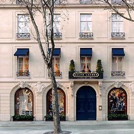 Image of Ralph Lauren storefront in Paris
