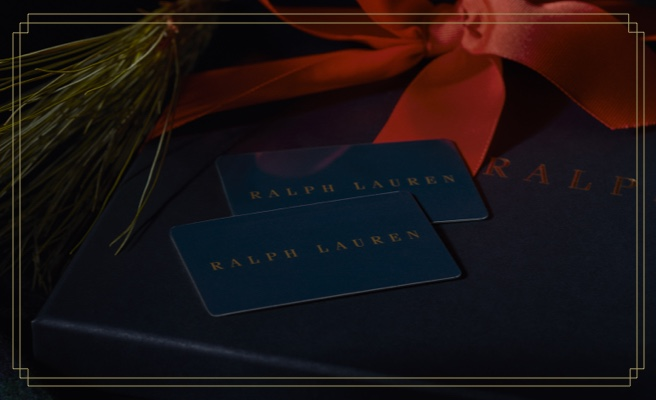 Blue Ralph Lauren gift cards