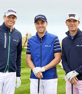 Nick Watney, Justin Thomas & Billy Horschel in RLX Golf outerwear