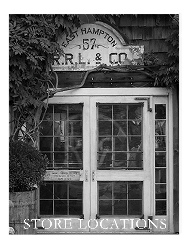 Black & white photograph of Double RL storefront