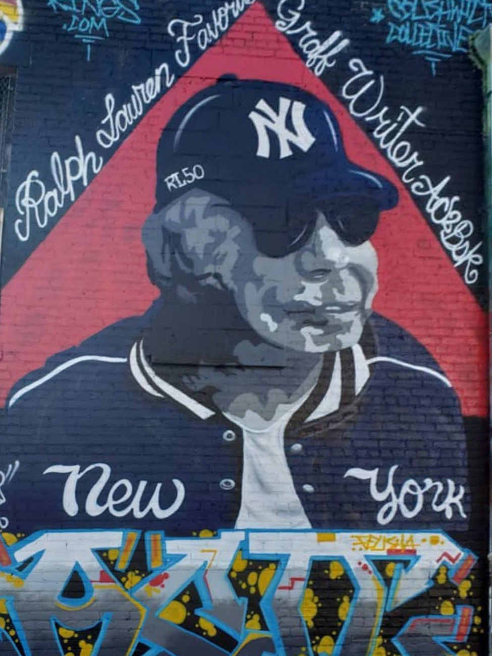 AC2BSK's latest creation: a 20-foot-tall image of Ralph Lauren in a Ralph Lauren Yankees™ hat and jacket