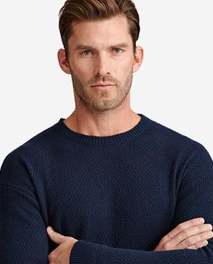 Diamond-Knit Cashmere Sweater