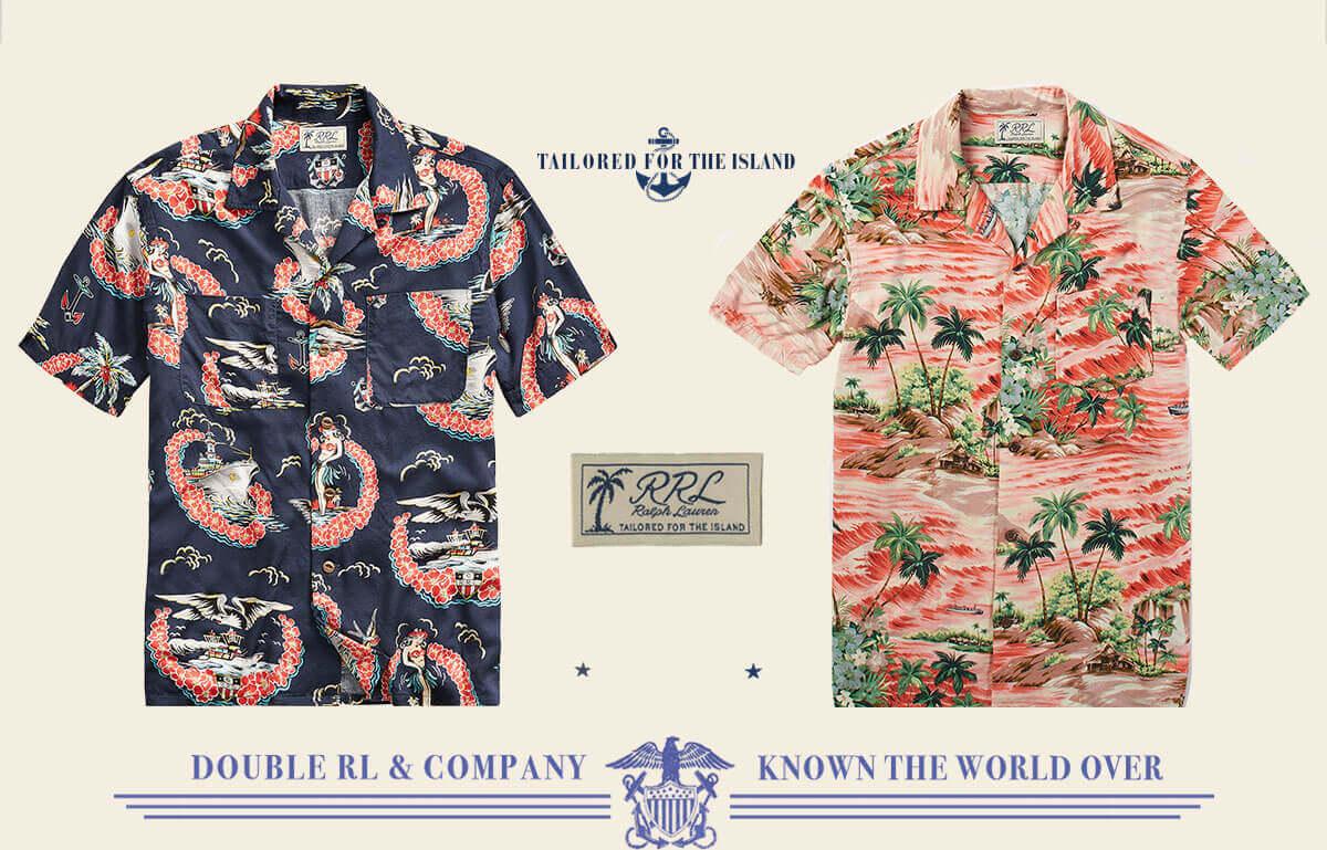 Hawaiian-inspired short-sleeve button-down shirts