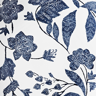 Delicate navy & white floral pattern