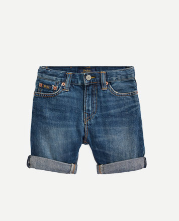 d42fed9625e Denim shorts with rolled cuffs.