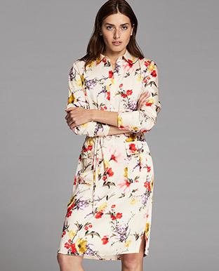 Floral Twill Utility Dress