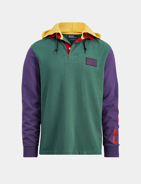 Snow Beach Hooded Rugby