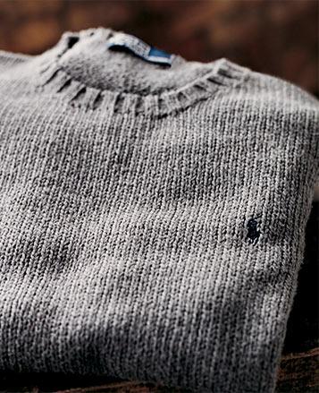 Knit grey crewneck sweater
