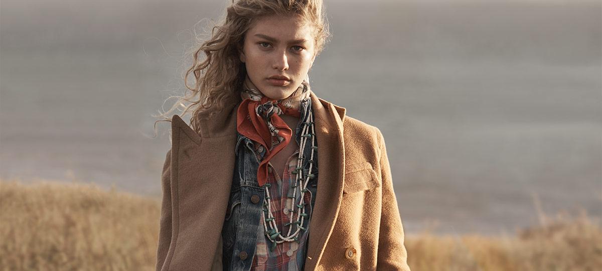 Woman in ocelot-print faux-fur coat