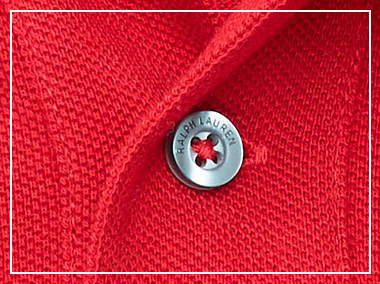 Close-up of Polo shirt buttoned placket