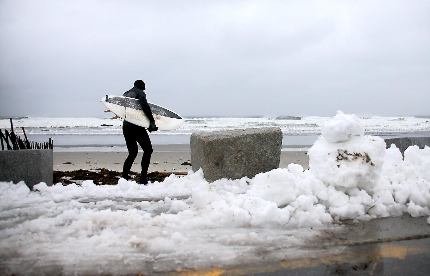"""Water temps on the Eastern Seaboard get as cold as anywhere we go,"" says one surfer"