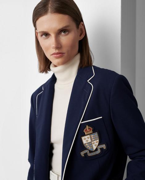 Yates Crest Wool Crepe Jacket