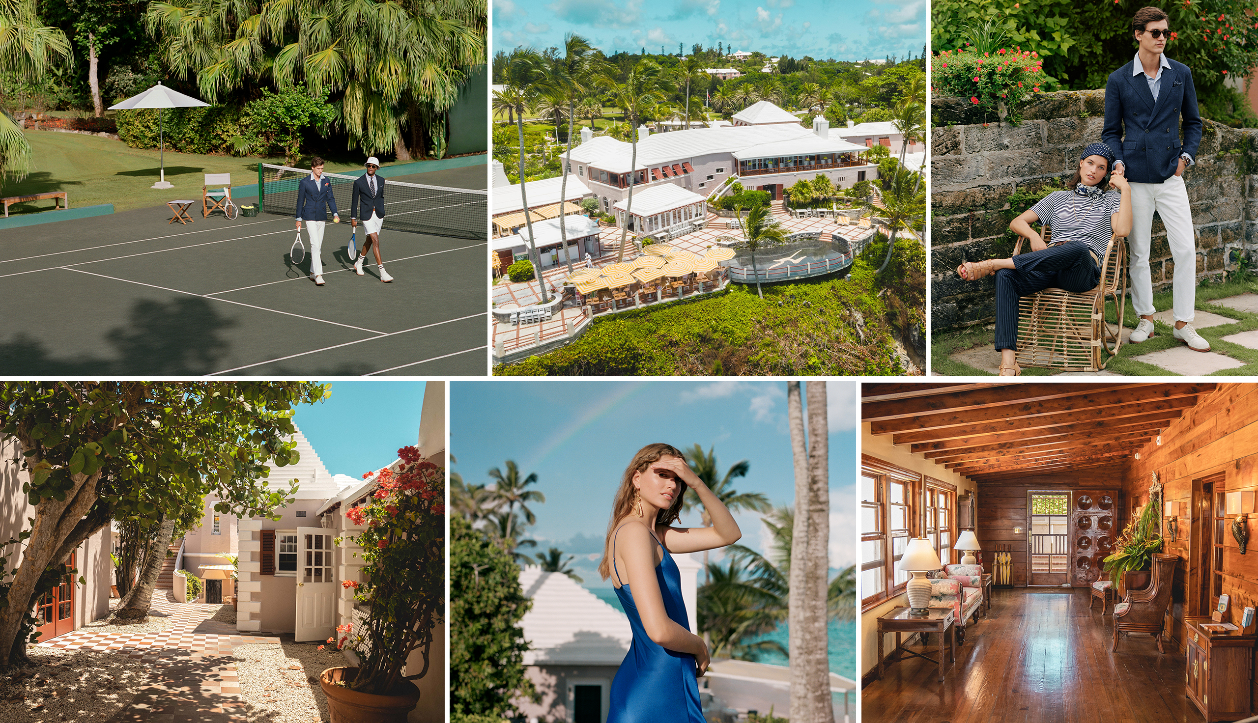 Spring 2020 Polo looks captured on location in Bermuda
