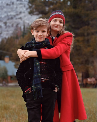 Boy and girl wear Polo coats & accessories