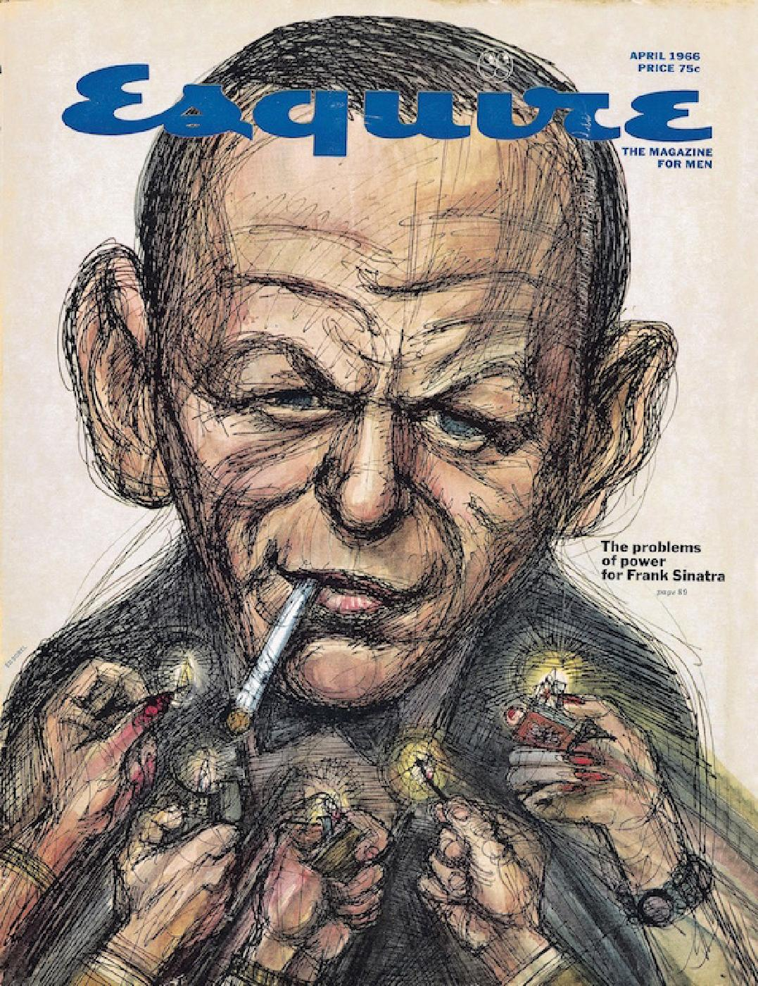 The April 1966 cover of <em>Esquire</em>, illustrated by Ed Sorel