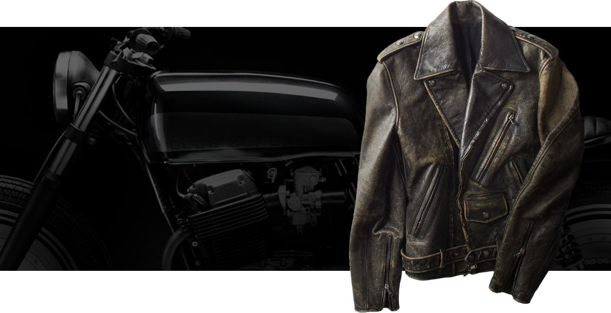 Distressed asymmetrical leather jacket