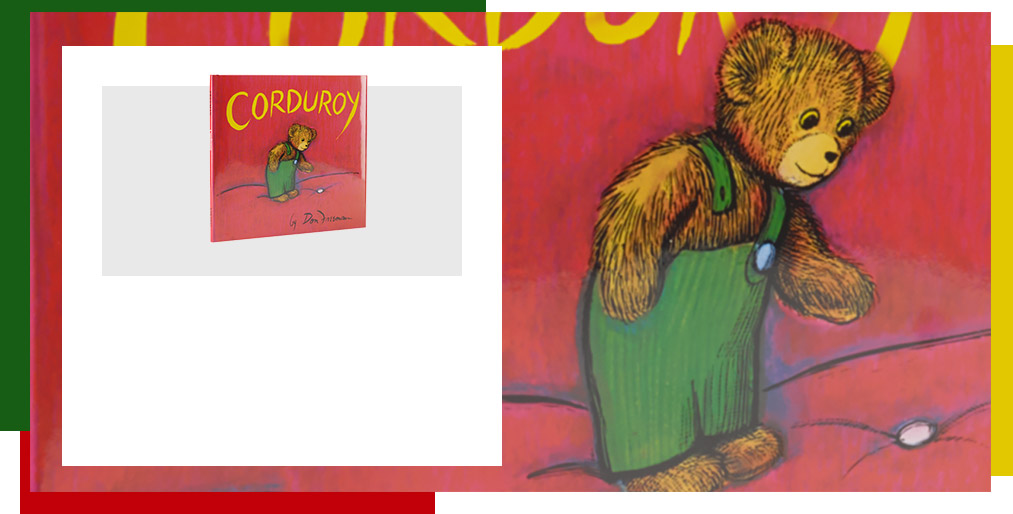 Close-up of Corduroy kids book cover