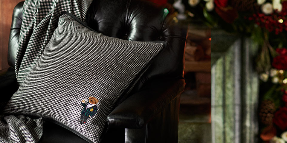 Throw pillows & other home accessories accented with the Polo Bear