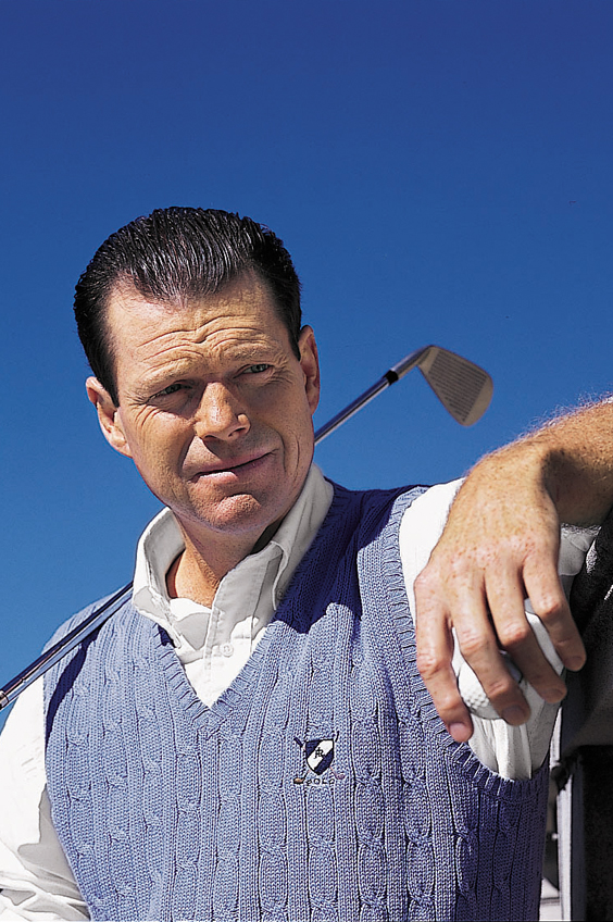 The Stanford University graduate and legendary golfer looking dapper for a Ralph Lauren photo shoot in 1998