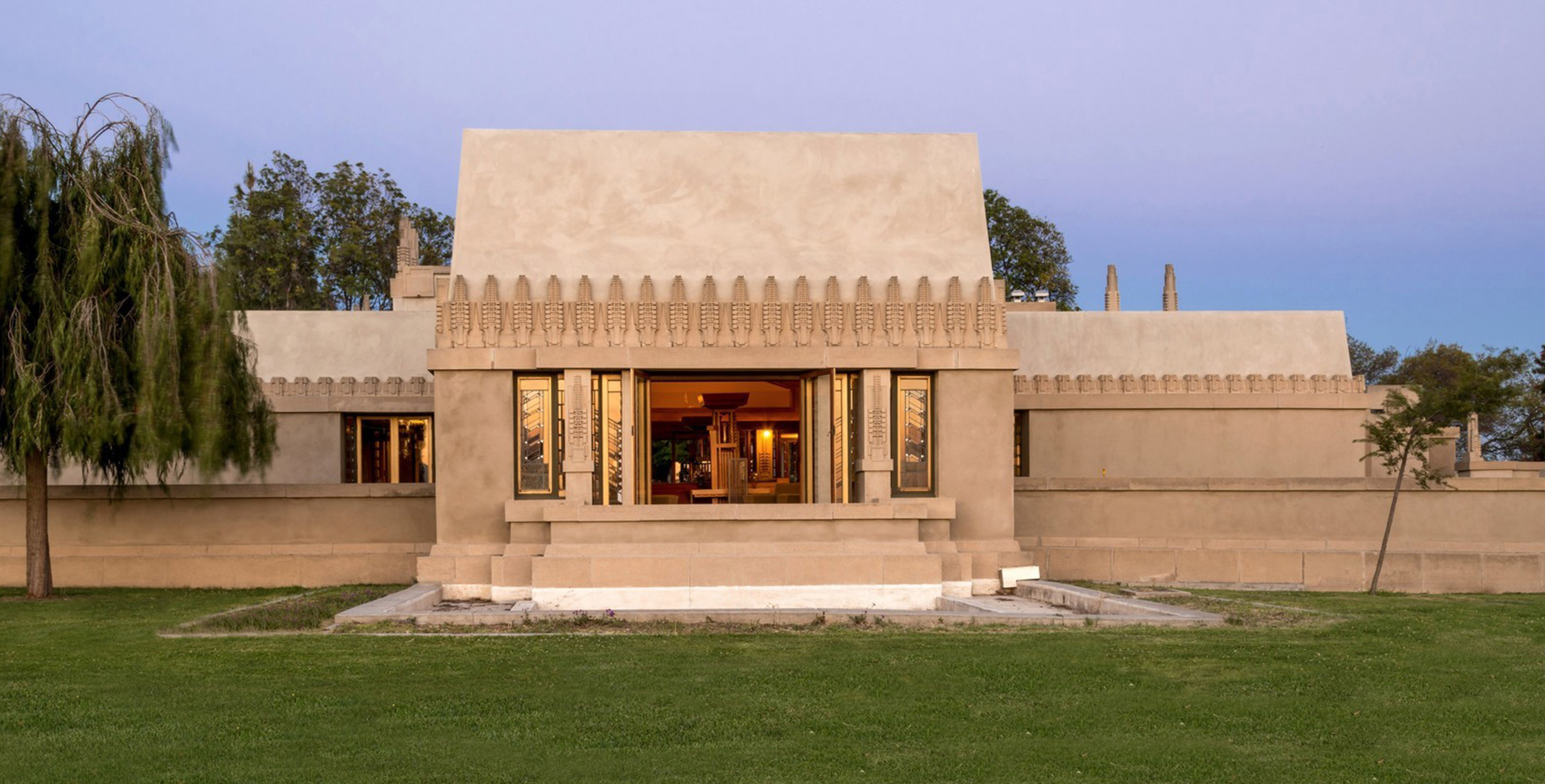 Frank Lloyd Wright's Hollyhock House, completed in 1921