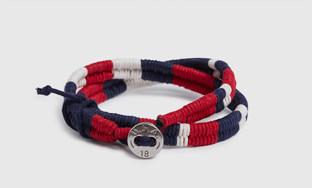Team USA Waxed Cord Bracelet