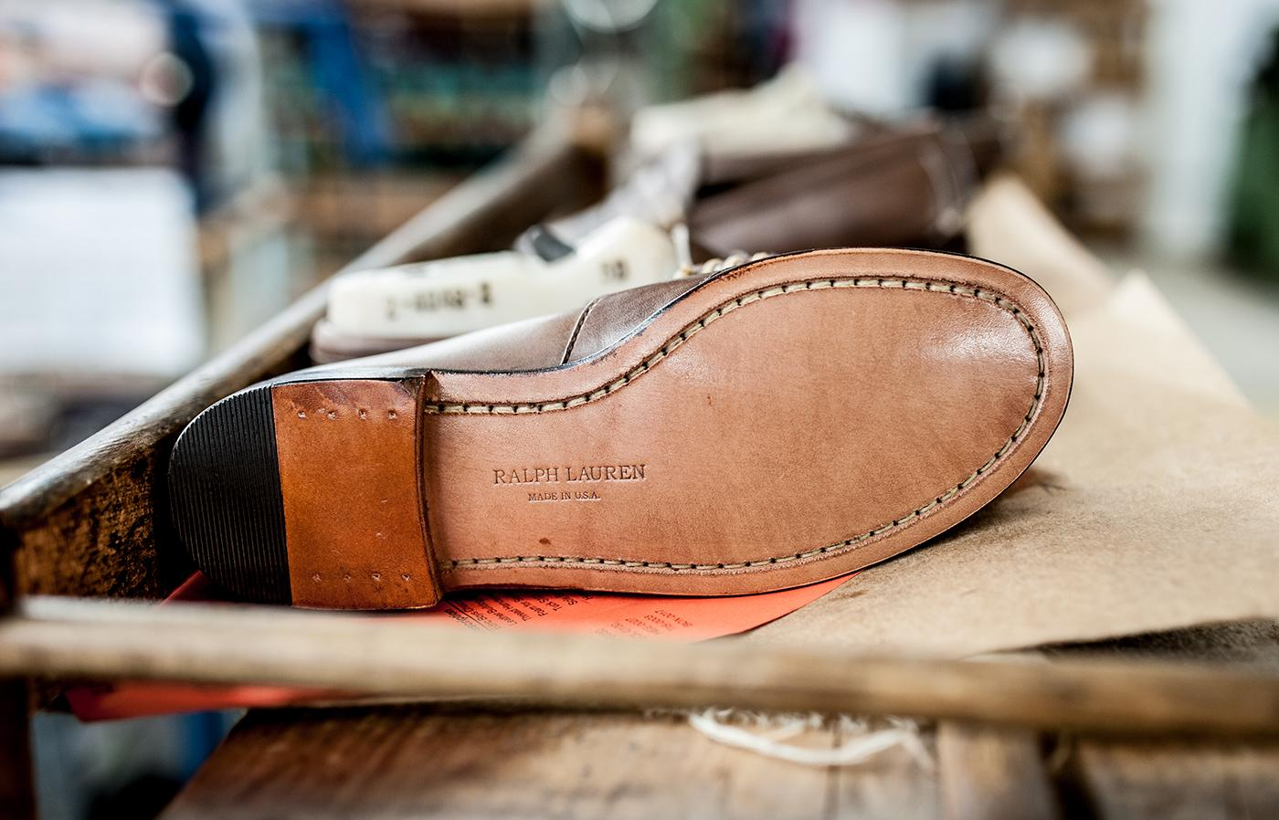 The final piece of the Edric: a traditional leather sole, stitched directly to the upper so it can be resoled endlessly.