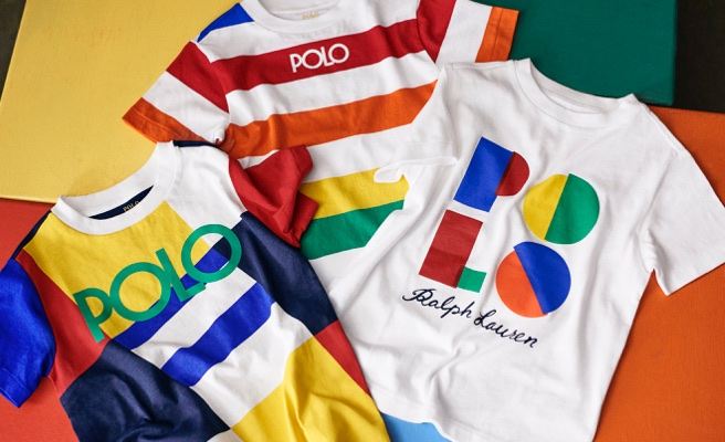Colorful graphic & striped Polo tees