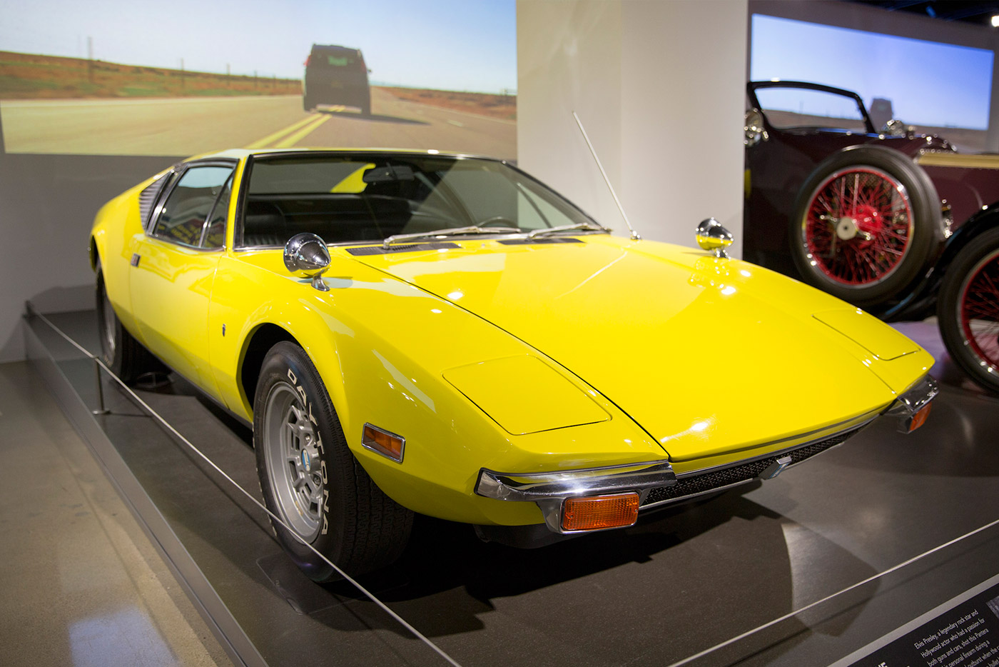 1971 De Tomaso Pantera: This Italian-American exotic belonged to Elvis Presley, who once hopped in the driver's seat hoping to peel out in a dramatic exit. Instead, the engine stalled, Elvis took out his revolver, and shot the car three times