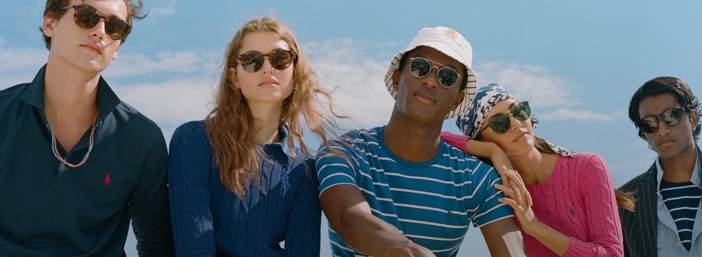 Men & women in sunglasses & Polo warm-weather styles