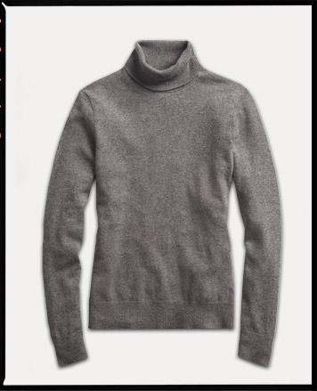 Grey turtleneck sweater