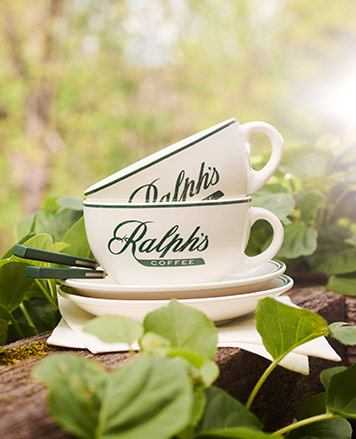 Ralph's Coffee mugs & saucers