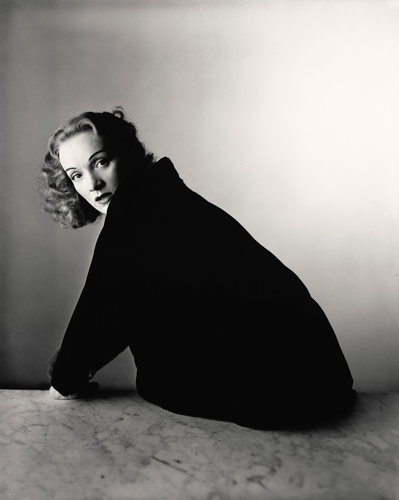 Marlene Dietrich posed for this Irving Penn portrait in 1948