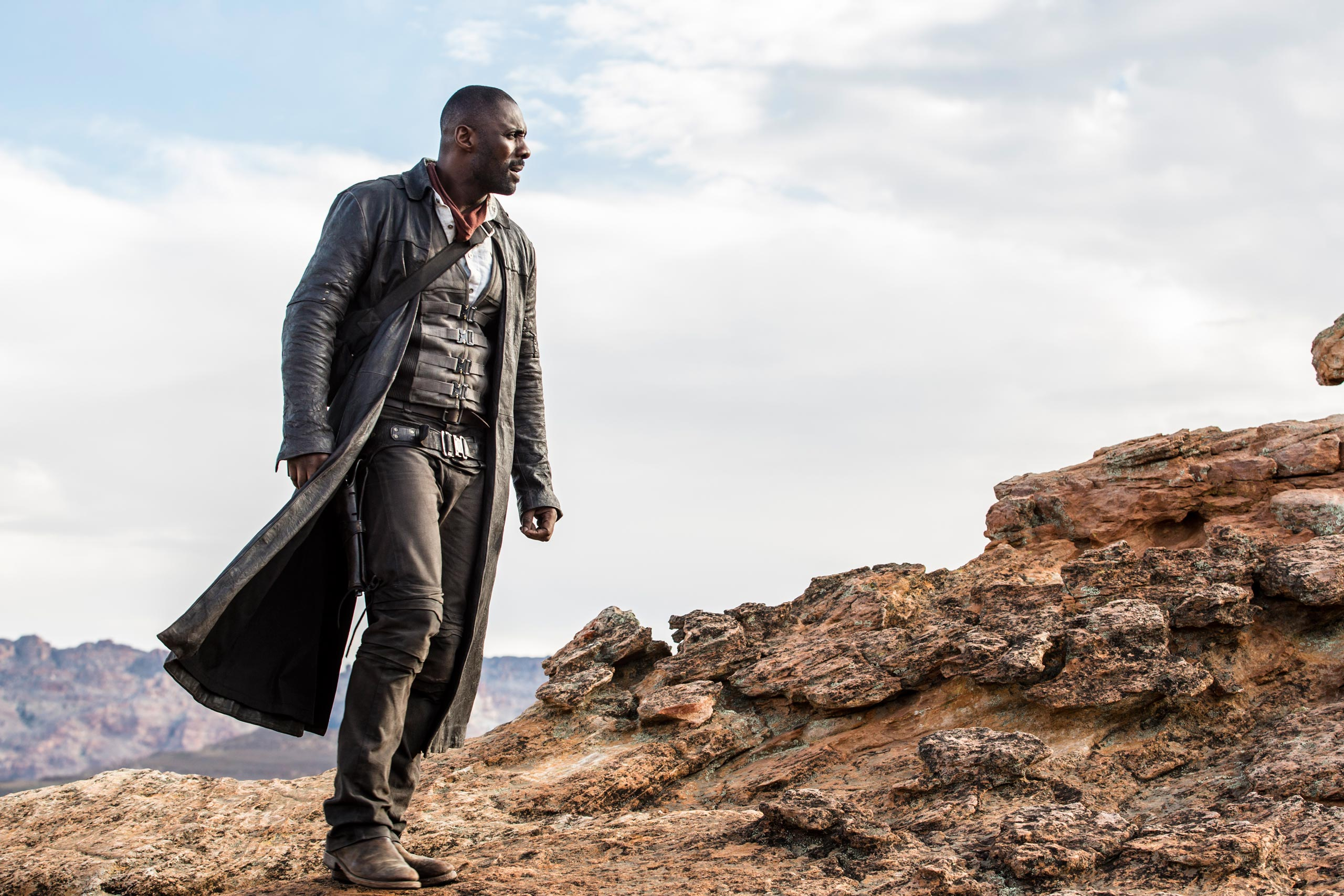 Idris Elba stars in the hotly anticipated film adaptation of Stephen King&#x2019;s <em>The Dark Tower</em>, in theaters this August