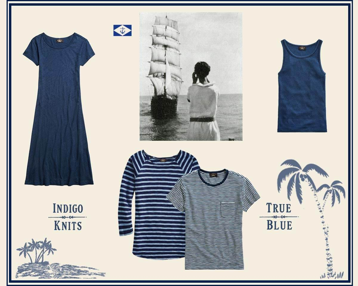 Nautical-inspired summer styles in indigo