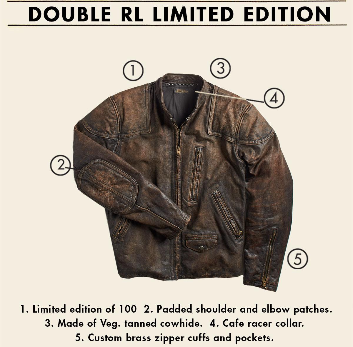 Distressed brown moto jacket