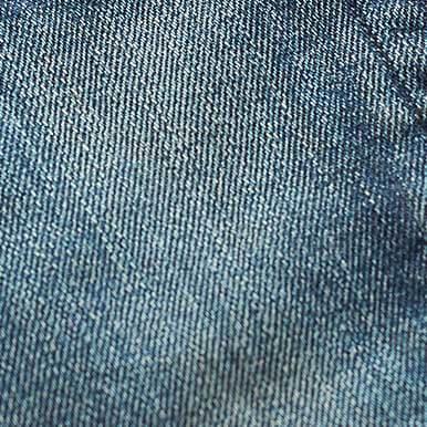 Close-up photograph of denim fabric