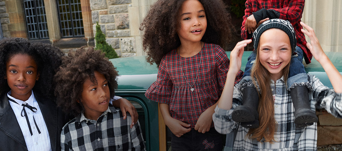 Boys and girls wear various festive Polo outfits.