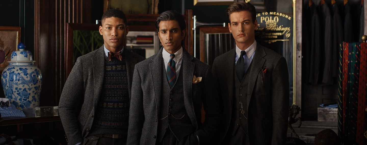 Men in tailoring and layers for cooler weather