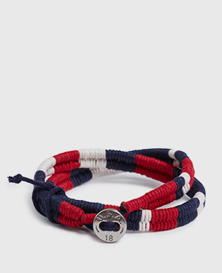 Team USA Waxed Cord Bracelet