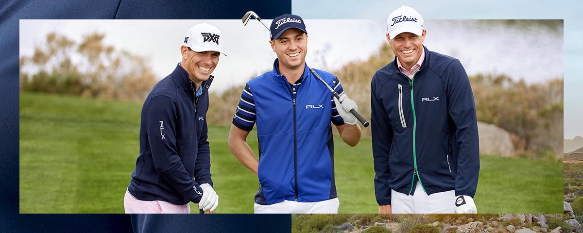 Billy Horschel, Justin Thomas & Nick Watney on green in RL golf styles