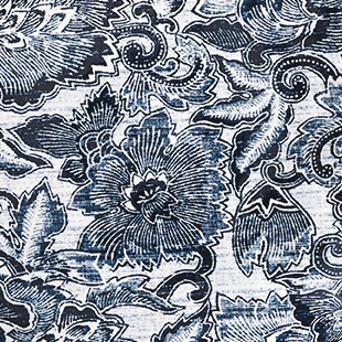 Dense navy & white floral pattern