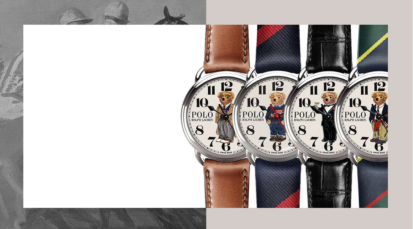 Four watches featuring four different Polo Bears