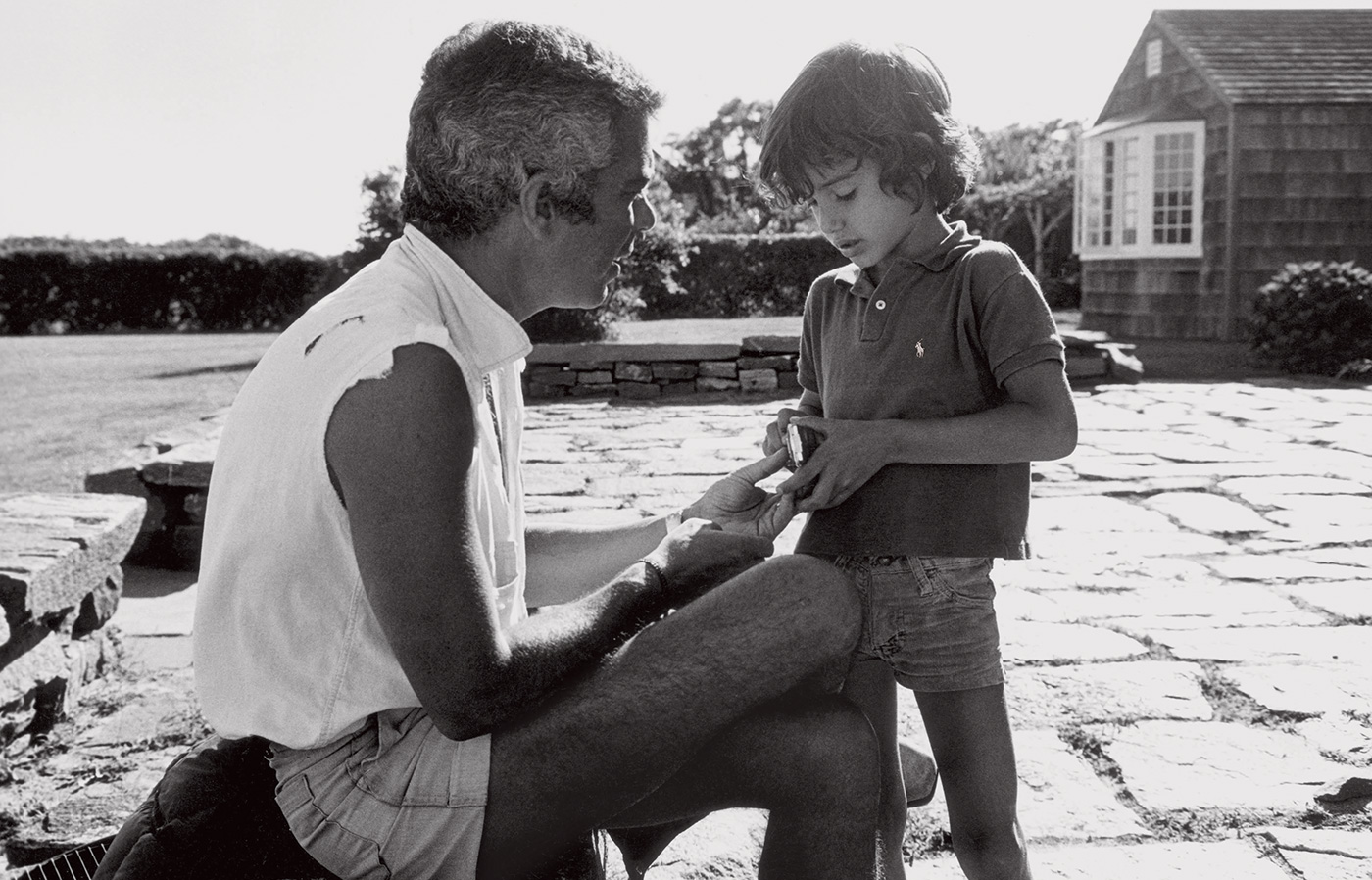 Ralph and Andrew Lauren in Amagansett, New York, 1976